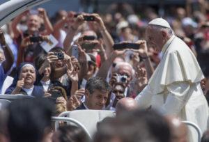 El Papa Francisco durante una reciente visita a Italia.