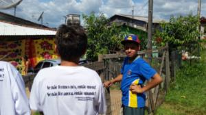 Estudiantes de U-M y miembros de la comunidad de Santa Marta en el sur de Brasil están buscando maneras de mejorar la comunidad.