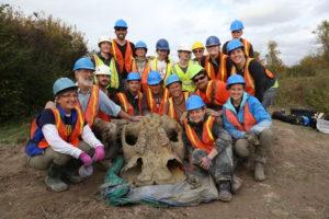 Equipo liderado por U. de Michigan desentierra el más completo esqueleto de mastodonte en Michigan