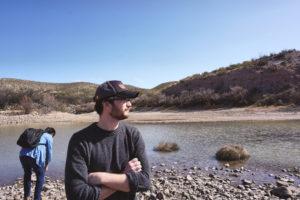 Los estudiantes visitaron segmentos del Río Grande no canalizado, sistemas de control represas del Río Grande en Nuevo México. Foto de Shane Donnelly, Taubman College of Architecture and Urban Planning.