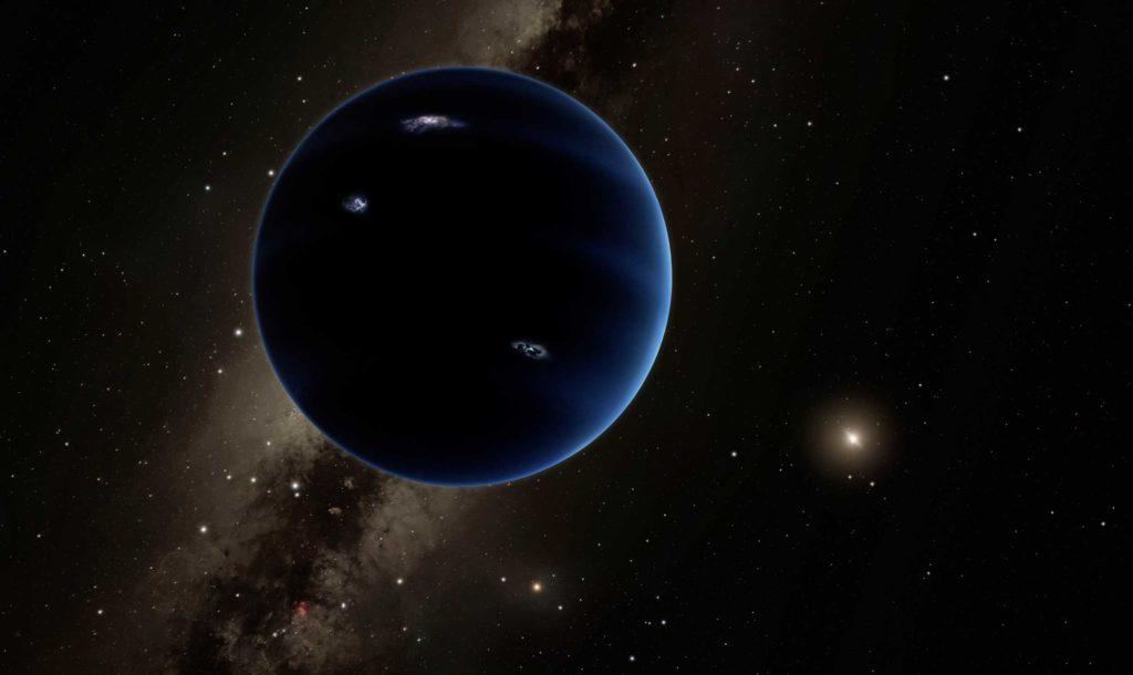 "Concepto del artista del ""Planeta Nueve"". Crédito de imagen: NASA / JPL-Caltech / Robert Hurt"