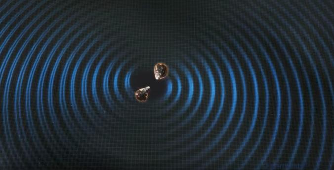 Científicos de alrededor del mundo observan 'espectáculo pirotécnico' gracias a choque de estrellas. Imagen muestra ilustración del choque de estrellas. Crédito: Fermilab.