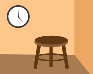 Ilustración de una silla de castigo. Crédito: Kaitlyn Beukema