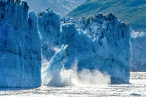 Glaciar Calving de Alaska