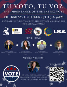 Estudiantes latinos de Michigan se unirán en panel virtual para resaltar la importancia del voto latino