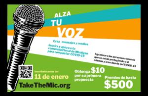 Concurso 'Take the mic' busca usar creatividad de la comunidad en lucha contra el COVID-19