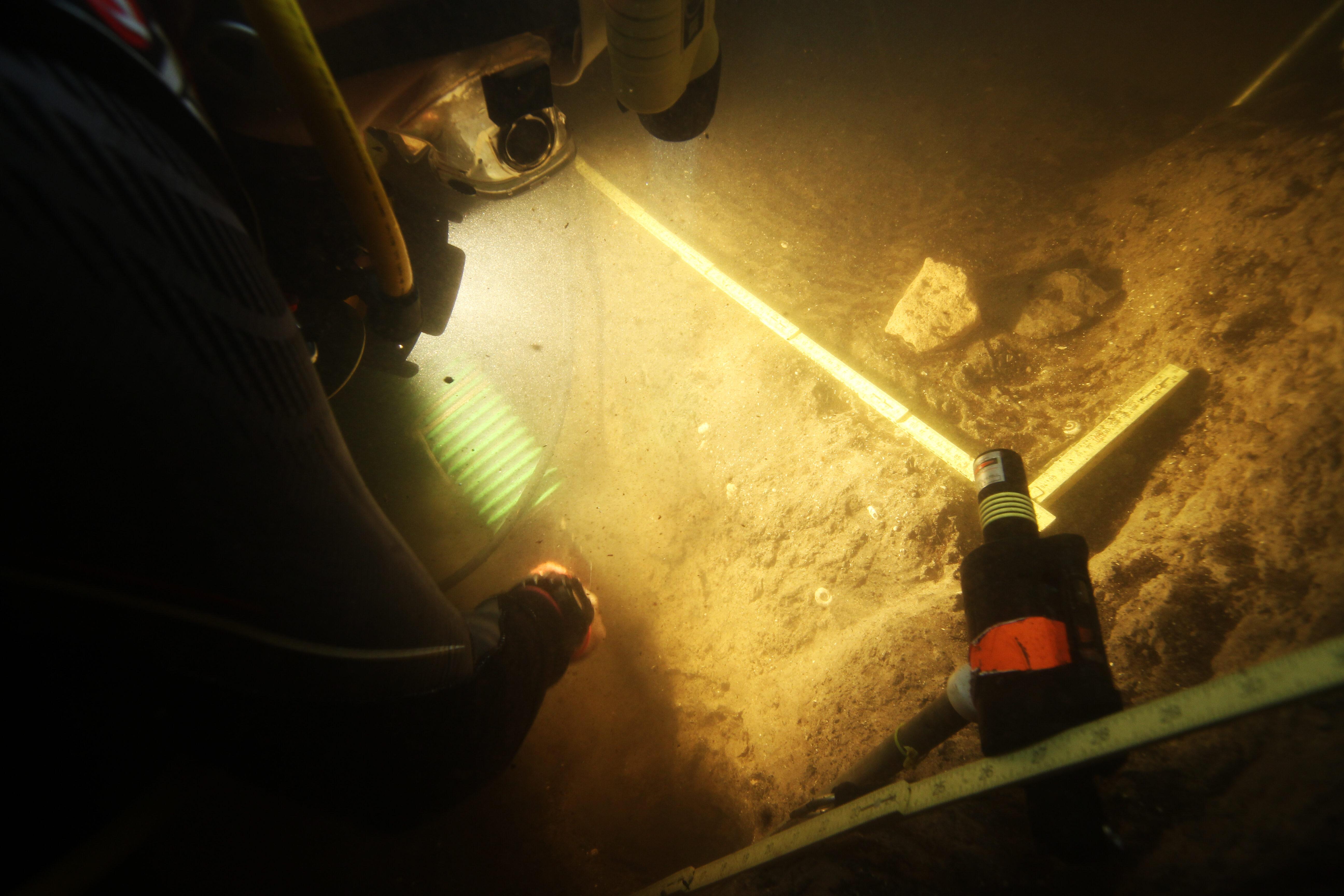 Los buceadores de la UM recuperan madera prehistórica en el lago ...